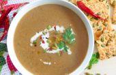 Soupe de champignons shiitake