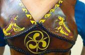 Custom Fit cuir Armor poitrine plaque celte Edition