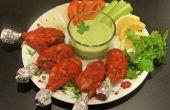 Poulet Tandoori au four avec coriandre yaourt Dip