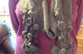 Écharpe en laine feutrée impressionnable