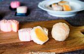 Mooncake peau de crème pâtissière chinois de glace