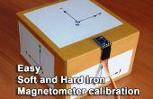 Étalonnage du magnétomètre simple fer durs et mous