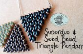 Super Duo et graine perle Triangle pendentif tutoriel ¦ le coin de Craft