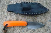 Orange manipulés couteau de chasse