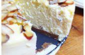 New York Style Cheesecake aux amandes et une croûte de spéculoos