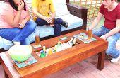 Table d'extérieur avec refroidisseur de boîte de glace