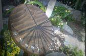 Cadran solaire de morceau de bois
