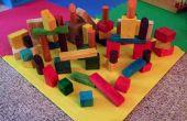 Blocs en bois de couleur