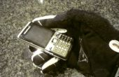 Téléphone cellulaire pour les mains gantées ou gros doigts