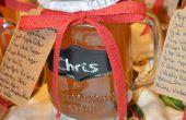 Cadeaux de bocal à conserves, Moonshine de tarte aux pommes !