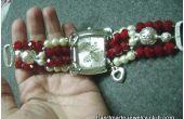 Montre bracelet de perles