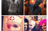 Sillent Hill simple Costume infirmière horreur deguisement Facil Enfermera horreur Hallowen Carnaval