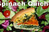 Comment faire des épinards et oignons rouges Quiche
