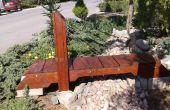 Suspendu pont de jardin