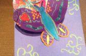 Papillon fleur carte