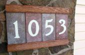 Plaque d'adresse avec les numéros rougeoyantes & compartiment Secret fait main !