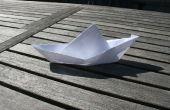 Faire un bateau flottant dans un papier