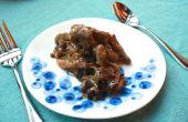 Foie de boeuf nourri à l'herbe avec brown beurre d'oignons caramélisés et Californie prunes séchées