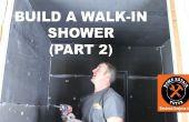 Comment construire une douche Walk-in (partie 2: montage mural Wedi)