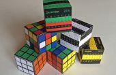 La boîte de Puzzle étonnant papier : Rubik Cube ou calendrier