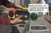 Grabadora solaire con grabadora vieja !