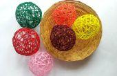 Balles de fil décoratif bricolage