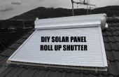 BRICOLAGE panneau solaire retrousser obturateur (Rideau solaire, tapparella solare)