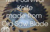 Couteau de survie mini issu d'une vieille lame de scie - Jimmy Diresta inspiré