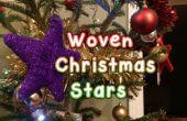 Tissé en laine de Noël étoiles
