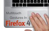 Personnalisation de gestes multitouch dans Firefox