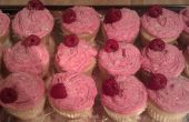 Blanc chocolat Cupcakes framboises