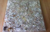 Tuiles de coquille de l'huître