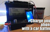 Chargez votre téléphone avec une batterie de voiture (6V-24V)