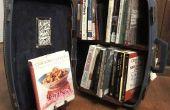 Bibliothèque : Bibliothèque dans une valise de voyage !
