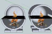 Bouteille de four ou barbecue gaz