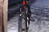 Pneus pour un vélo de montagne de glace