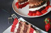 Quadruple Decker velours rouge chocolat Cake