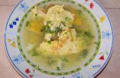 Soupe d'oeuf omelette - simple et très savoureux !