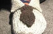 Tricoter « Chemise et cravate » pantoufles