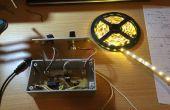 """Contrôle de la bande de LED avec variateur et Circuits """"pulsé"""" Audio"""