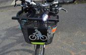 Feux de vélo sur les paniers vélo de montage