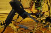 Développement d'une partie d'imprimés 3D - Prusa Mendel Hair Dryer chauffée lit monter