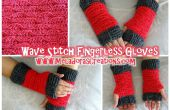 Doigt Stitch Wave moins gants – gratuit Crochet Pattern
