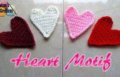 Crochet coeur Motif Applique – Crochet patron gratuit