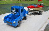 Tige 40 Willys rue LEGO avec la vitesse du bateau et la remorque