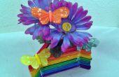 Vase à fleur Popsicle Stick - Rainbow