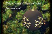 Illuminé d'ornement flocon de neige