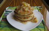 Les crêpes au babeurre avec compote de pommes et miel (fait avec du ghee)