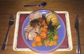 Accordéon de pommes de terre et agneau papillon