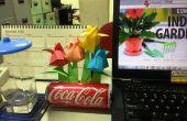 Jardin de tulipes origami avec pouvez Pot